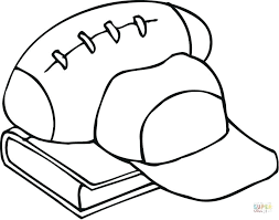Football Coloring Pages Uk Outline Of Equipment And A Book Free