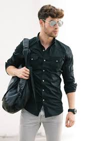 Black Outfit With Utility Shirt
