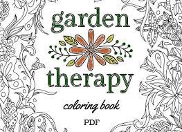 Garden Therapy Coloring Book