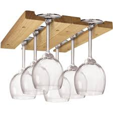 Under Cabinet Stemware Rack by Wine Glass Racks Stemware Holder Hanging Stemware Rack