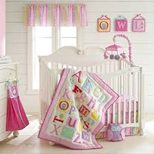 Pink Crib Bedding by Amazon Com Owlphabet 4 Piece Crib Bedding Set Color Pink Pink