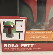 100 The Mighty Boba Truck ThinkGeek Star Wars Minis Fett Portable Charger For Sale