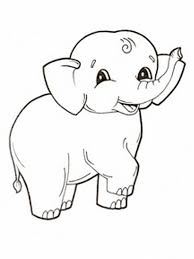 Coloring Pages Printable Elephant Baby Of Smile Cheerful Cute Animals Important Fine Motor Skills Coordination