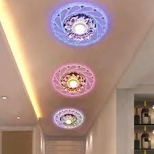 moderne led kristall decke licht rund mini bunte decke le luminarias rotunda licht für wohnzimmer korridor ki