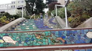 16th Avenue Tiled Steps Project by Walking The Steps In San Francisco The Adventures Of Elatlboy