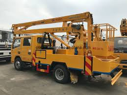 100 Truck Mounted Boom Lift Hot Item Rotate 360 Degree S Hydraulic Aerial Cage For Engineering