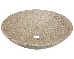 850 tan granite vessel sink
