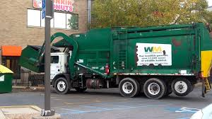 Waste Management Truck, Real Old Looking - YouTube
