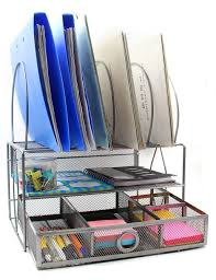 Desk Drawer Organizer Amazon by Amazon Com Easypag Mesh Desk Organizer With 5 File Sorter