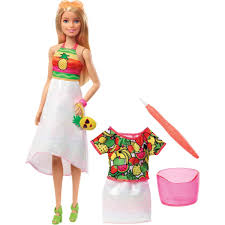 Amazoncom Barbie Crayola Rainbow Fruit Surprise Doll Fashions