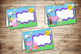 Peppa Pig With Stars Pumpkin Stencil by Peppa Pig Food Labels Peppa Pig Food Tents Cards Tags