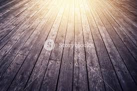 Rustic Wooden Floor Board Texture In Perspective As Background Retro Tone Sunlight