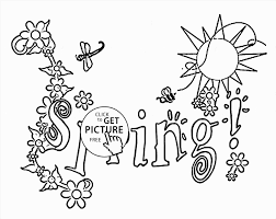 Spring Drawings Easy Pictures For Drawing Pages Great Nature Coloring Page Kids Seasons