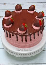 Moist and Delicious Homemade Chocolate Covered Strawberry Cake Recipe by MyCakeSchool
