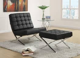 100 Accent Chairs With Arms And Ottoman Jacksen Black Leather Chair CB Furniture