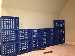 Zip Tie Plastic Crates Together For Storage Using Mine To Build A Closet