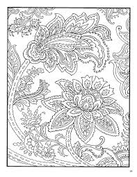 American Hippie Zentangle Coloring Page Art Paisley