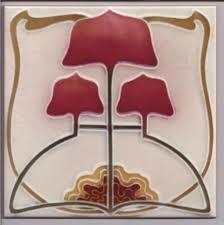 stylised nouveau arts crafts tile ref 023 nouveau