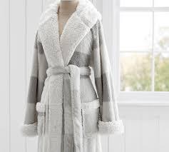 Cozy Sherpa Robe Buffalo Check