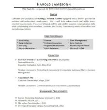 Accounting Student Resume Printable Medium Size Large