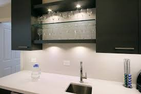 led puck lights in kitchen modern with next to cabinet led