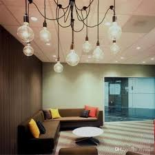 Edison Chandelier Classic Vintage Pendant Lamp 10 Light Sockets Living Room Dining Ceiling Bulb Remote Control Flush