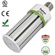 dephen 60w led corn light bulbs medium e26 base 5000k 8100lumen