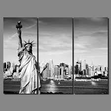 noir blanc moderne ville new york statue de la liberté photo