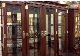 Henredon Walnut China Cabinet by Henredon Ming Style Cherry Wood China Cabinet Golden Age Vintage
