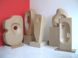 This Is A Series Of Eight Stand Ins Or Display Copies Stone Sculptures By The British Artist Barbara Hepworth 1903 1975 Physical Space These