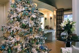 75 Flocked Christmas Tree by My White Christmas Tree Transitional Living Room San Diego