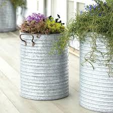 Galvanized Metal Planters Metal Flower Boxes Cedar Window Boxes
