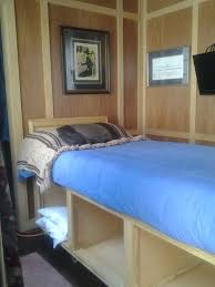 High Bed For Vintage Camper With Storage Great Idea Easier To Get The