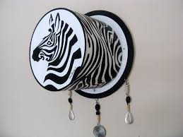 Zebra Art Painting Wall Sculpture Black And White Acrylic Unique 3D Decor Original