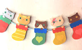 Kawaii Kittens Garland This Cute Cuddly Printable Is Just Purrrfect For Christmas