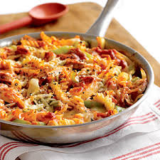 Skillet Four Cheese Baked Pasta