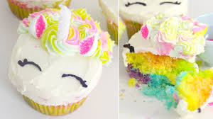 Rainbow Unicorn Cupcakes Recipe