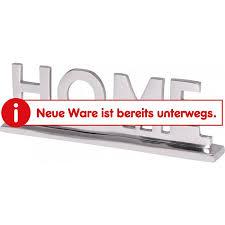wohnling home deko schriftzug wohnzimmer esstisch dekoration wohnung aluminium wohndeko silber 22 cm