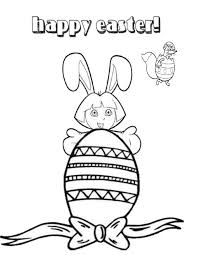 Easter Coloring Pages Dora 19 Page