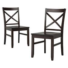 carey dining chair dark tobacco set of 2 threshold target