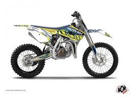 kit deco 85 yz husqvarna tc 85 kit déco moto cross eraser husqvarna tc 85 jaune bleu