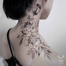 Good Flower Neck Tattoo Designs 52 For Your Free Design With