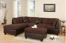 Buchannan Faux Leather Sectional Sofa by Black Leather Couch Sofas Loveseats U0026 Chaises Ebay