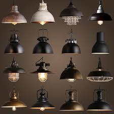 Vintage Rustic Metal lampshade Edison Pendant lamp lights Retro