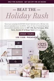GLOSSYBOX Advent Calendar Available Now + 48 Hour Coupon ... Nars Cosmetics The Official Store Makeup And Skincare Sephora Ysl Coupon Code Nars Discount Print Discount Smith Sinclair Promo Stealth For Men Top Savings Deals Blogs Cheap Bulk Fabric Australia Beachbody Coupons 3 Day Fresh Marcelle Canada Easter Promo Code Free Gift Of Your Choice Lovery New Year India Colourpop Savings Affordable Makeup Retailmenot Sues Honey Science Corp For Patent Infringement Shiseido Tsubaki Anessa Senka Za More Friends