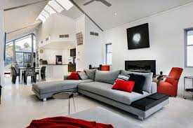 grey sofa living room center post l shape sofa artwork pictures