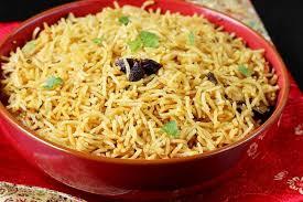 biryani indian cuisine biryani rice recipe kuska rice or plain biryani without veggies