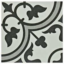 merola tile arte grey 9 3 4 in x 9 3 4 in porcelain floor and