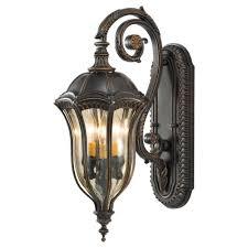 feiss baton 3 light walnut outdoor wall lantern ol6002wal