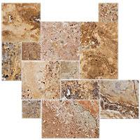 Scabos Travertine Floor Tile by Scabos Brushed Unfilled Chiseled Large Versailles Pattern